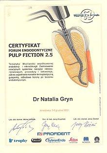 Сертификаты Гринь Н.Г.